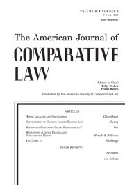 The American Journal of Comparative Law