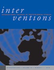 Interventions - International Journal of Postcolonial Studies