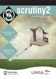Scrutiny2 - Issues in English Studies in Southern Africa
