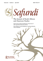 Special Issue of Safundi - The Journal of South African and American Studies