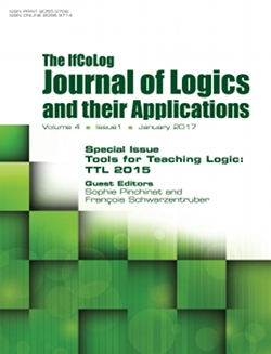 The IfColog Journal of Logics and their Applications