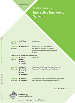 ACM Transactions on Interactive Intelligent Systems
